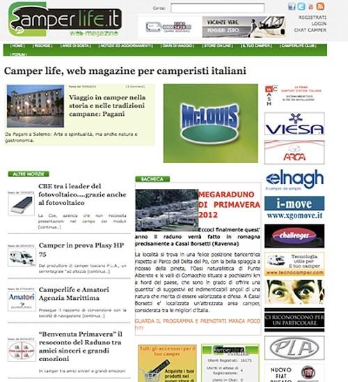 Camperlife.it Homepage
